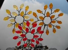 wire flower suncatchers