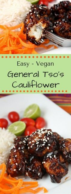 Easy Vegan General Tso's Cauliflower – Better than Take-Out.My easy recipe for vegan General Tso's Cauliflower is spicy-sweet and tangy like the original and will please meat-eaters and vegetarians alike