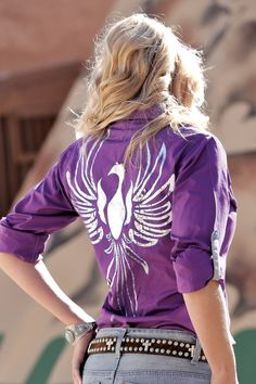 Purple Snap Shirt - Cruel Girl