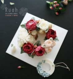 soy flower candle done by student from china  ruahcake soyflower candle class ♥