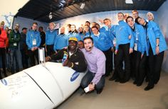 Getty Images: Jamaican Bobsled Team Visits Samsung Galaxy Studio