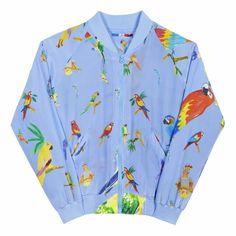 BUCKET LIST #11 (FR) Les produits à se procurer d'urgence - Le bomber en soie doux comme une plume de perroquet sur la peau (EN) Products to shop before the sold out - This silk bomber is soft on the skin like a parrot's feather // 250€ - LES PERROQUETS BLEUS – GKERO