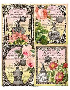 perfume collage sheet