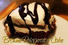 Brownie Refrigerator Cake http://www.momspantrykitchen.com/brownie-refrigerator-cake.html