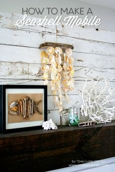 How to Make a Seashell Mobile....a great way to display your shell collection! | Make It and Love It