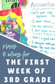 Detailed plans with links to books, ideas, and resources to use during the first week of school with your new third graders. Make back to school and third grade the best yet with a week full of fun and meaningful activities! #backtoschool