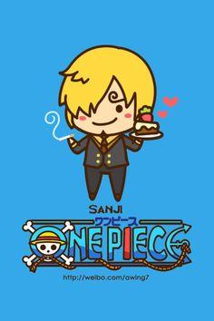 Sanji - One Piece Chibi Cute One Piece Anime, One Piece Cartoon, One Piece World, One Piece 1, One Piece Luffy, Anime Chibi, Anime Kawaii, One Piece Wallpaper Iphone, Sanji Vinsmoke
