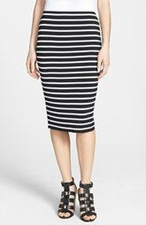 Vince Camuto 'Retro Stripes' Midi Tube Skirt (Regular & Petite)
