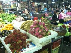 The Old Market in Siem Reap, where the chefs shop! #Uniworldcruises #cambodia #gourmet
