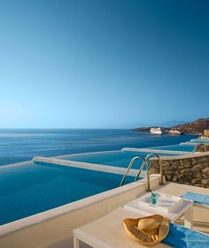 Hotel philosophy in Mikonos: Cavo Tagoo - MyHouseIdea Oh The Places You'll Go, Places To Travel, Places To Visit, Vacation Destinations, Dream Vacations, Cavo Tagoo Mykonos, Hotel Swimming Pool, Swiming Pool, Most Luxurious Hotels