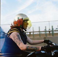 The Women's Moto Exhibit is a traveling photo exhibition documenting and promoting the new wave of modern female motorcyclists. The New Wave, Motorcycle Helmets, My Ride, Cool Pictures, Female, Grease, Motorcycles, Design, Fashion