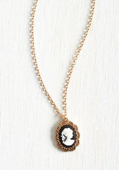 Antiquing Enthusiast Necklace. With your penchant for vintage treasures its not any wonder youre drawn to this golden pendant necklace - an exclusive style to ModCloth. #black #modcloth