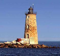 Whaleback Light, Kittery, Maine. My grampa was born in Kittery! ♥