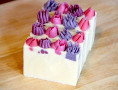 Flower Garden Soap with Piped Flower Embeds