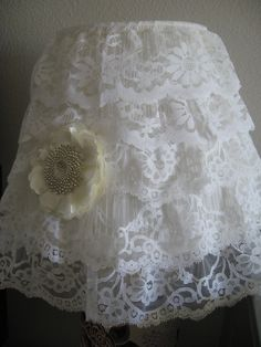 Lace lampshade with a little bling