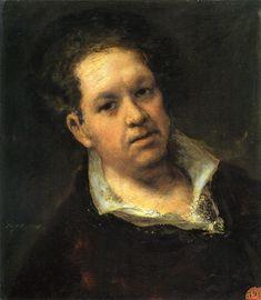 Self-portrait at 69 Years by Francisco de Goya - Autoportrait — Wikipédia