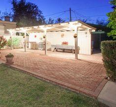 Brick and pergola patio area