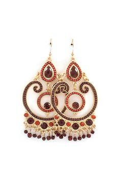 Michelle Chandelier Earrings in Sepia