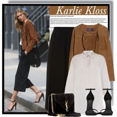 Karlie Kloss at a photoshoot / MAY by anne-mclayne on Polyvore featuring STELLA McCARTNEY, Violeta by Mango, Whistles, Yves Saint Laurent, GetTheLook, Model, celebstyle, karliekloss and photoshootstyle