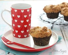 Streusel Topped Muffins - A Spoonful of Sugar