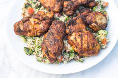 Spiced without being overly spicy, this Low Fodmap Moroccan Chicken is a delicious alternative to plain, grilled chicken! Gluten free, dairy free, paleo and whole30-friendly!
