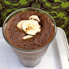 Banana Mocha Frappe  Mocha Breakfast Milkshake    Ingredients  3 ripe large bananas  1 1/2 cups low fat milk  1 tablespoon cocoa powder  2 teaspoons instant coffee  6 ice cubes  Directions  Place all ingredients in a blender and process until smooth.