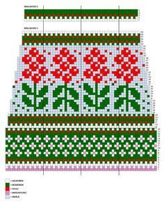 Fair Isle Knitting Patterns, Knitting Charts, Knitting Socks, Knit Patterns, Hand Knitting, Fair Isle Chart, Wool Socks, Loom Weaving, Mittens