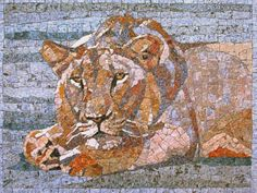 Lion, natural stone  Vojna Bastovanovic Mosaic Art 15 December 2013