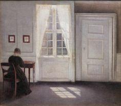Vilhelm Hammershøi (1864-1916), 'Interior in Strandgade, Sunlight on the Floor', 1901. KMS3696