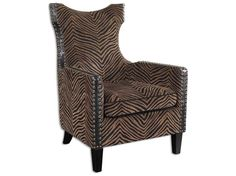 Uttermost Kimoni Wing Back Accent Chair