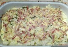 Mögt ihr Blumenkohl? Gekocht, frittiert oder überbacken? Probiert mal die Kombination von Käse Schinken und Blumenkohl aus. Ein sehr leckeres Essen.