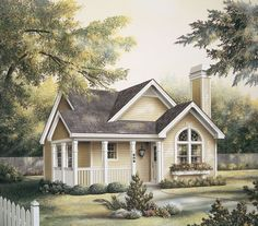 Cottage House Plan chp-18020 at COOLhouseplans.com