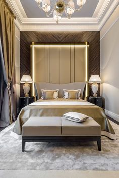 Who's Worried About Modern Luxury Bedroom Decor and Why You Should Pay Attention - decorurge Modern Classic Bedroom, Modern Luxury Bedroom, Luxurious Bedrooms, Luxury Interior, Home Interior Design, Home Bedroom, Bedroom Decor, Bedroom Ideas, Vintage Bedroom Styles