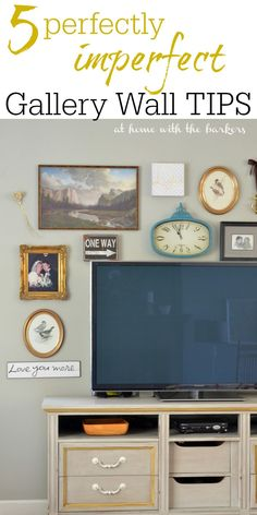 5 Gallery Wall Tips to create a fun, quirky and personal space.