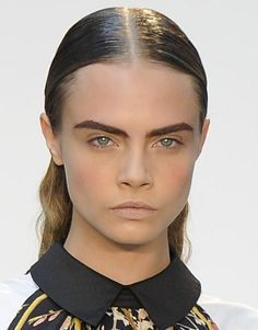 Full and structured eyebrows at Thakoon