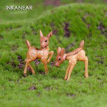 INKANEAR Mini Veados Fadas Jardim Casa De Bonecas Miniaturas Decoração Anime/Terrário Animais Figuras de Ação Estatueta DIY Micro Paisagem(China)