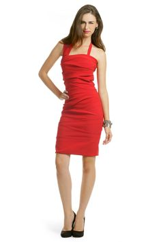 Preen Red Sandstorm Dress: i like that this isn't so short