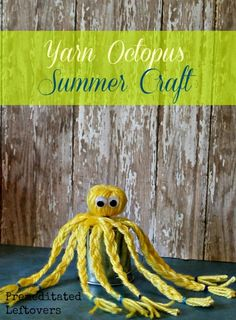 How to Make a Yarn Octopus - Use this yarn octopus tutorial to make a cute and simple yarn craft in just a few minutes.