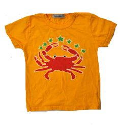 Crab tee. Batik design - handmade in Brooklyn.