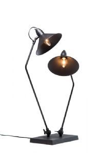 Siamese Industrial Black Double Table Lamp *SALE*