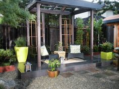 Pergolas and Other Outdoor Structures : a target=_blank href=http://www.diynetwork.com/yard-crashers/pagoda-shed/index.htmlFind air times for this episode/a or a target=_blank href=http://www.diynetwork.com/diy-yard-crashers-episode/videos/index.htmlwatch Yard Crashers online/a From DIYnetwork.com