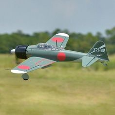 """FMS Zero Fighter A6M5 Green 1100mm 43.3"""" Wingspan RC Warbird Airplane PNP Sale - Banggood Mobile"""