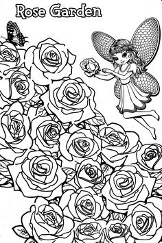 lisa frank coloring pages 2. Lisa Frank coloring pages Rose Garden Fairy frank to download and print for free