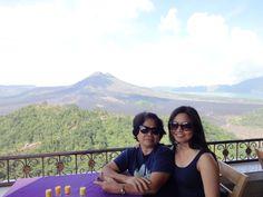 Mt Batur, Bali Indonesia having buffet lunch