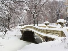 Snow covered bridge Photographic Print by Fotog at AllPosters.com