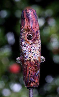 Red Rock Falls Handmade Lampworked Glass Bead OOAK by ninaeagle, $20.99