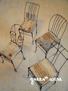 L'image de la chaise [vol.7 ~ ~ pizzicato petit panier]: fil vert +