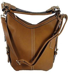 Roma Leathers 8007 Locking Gun Concealment Purse Right or Left Hand Draw RGB-BRO #RomaLeathers #Hobo