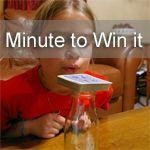 Don't Blow the Joker ~ Minute to Win it Game Our family loves playinggames. We played Minute to Win it with friends New Years Eve and the kiddos loved it! Minute To Win It, is a NBC show where contestants participate in 60 secondchallengesthat use commonhousehold objects. We love free,