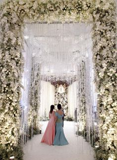 Incredible Entry Walkways Into Your Wedding! Incredible Entry Walkways Into Your Wedding! Wedding Walkway, Wedding Entrance, Entrance Decor, Wedding Ceremony, Wedding Mandap, Indoor Wedding Venues, Wedding Reception Backdrop, Wedding Rings, Wedding Hall Decorations